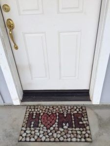Home doormat pic for home clearing blog